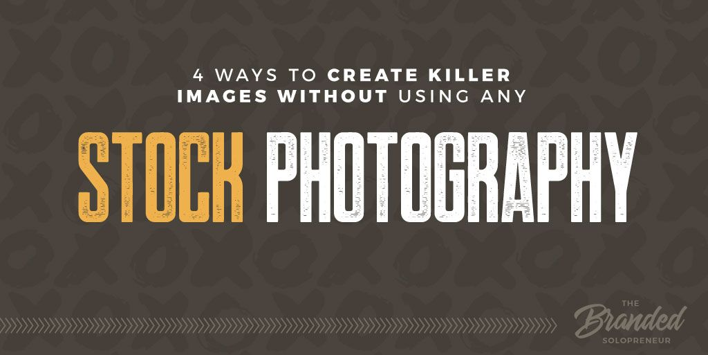 Creating images without stock photography