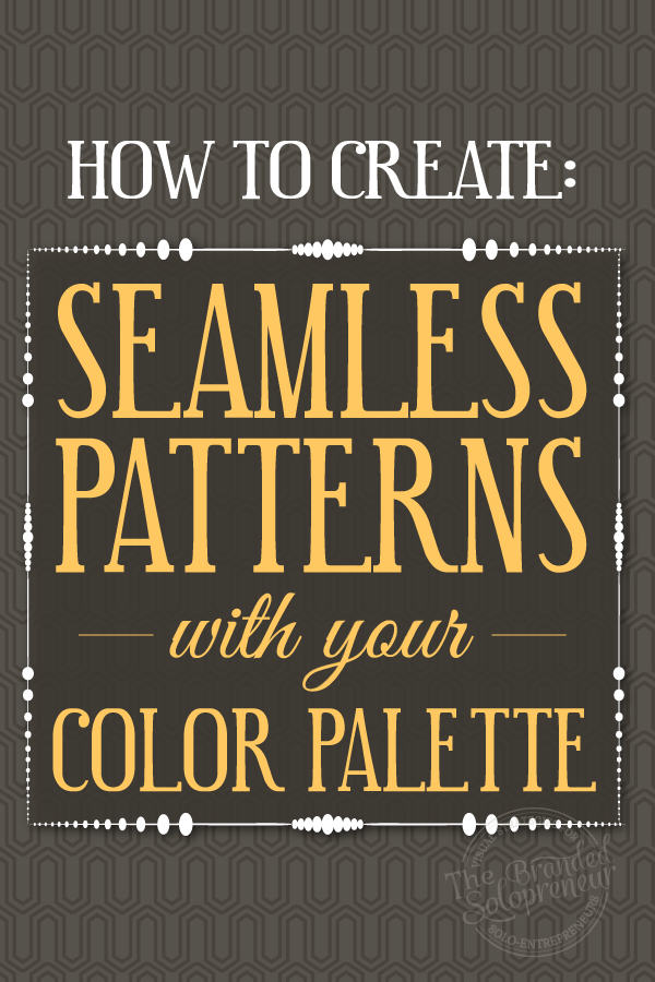 How to Create Seamless Patterns With Your Color Palette {Video Tutorial}