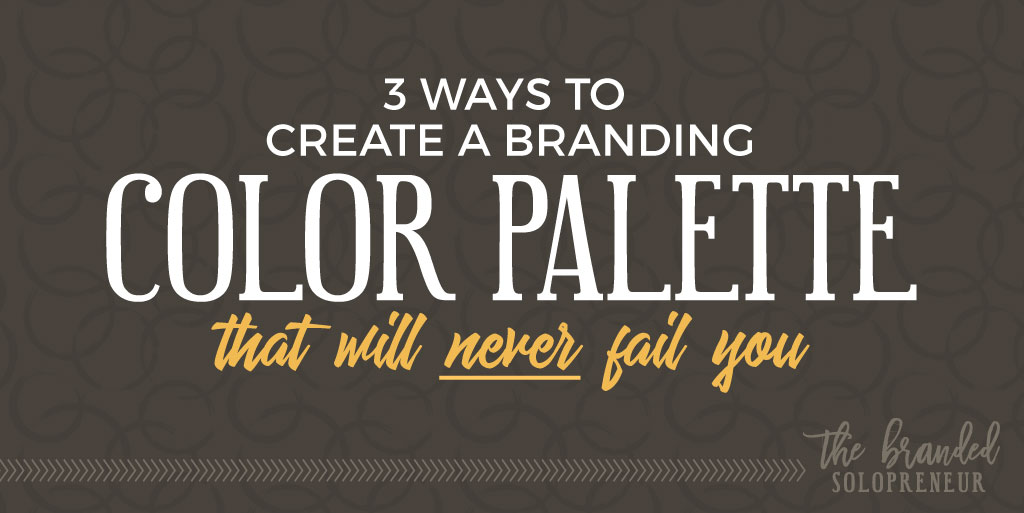 3 ways to create a branding color palette