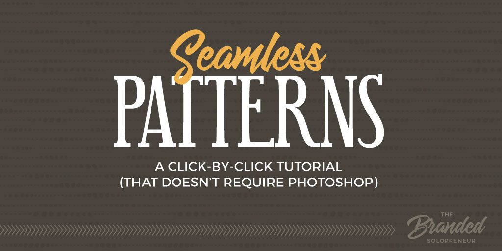 How to Create Custom Seamless Patterns (without Photoshop)