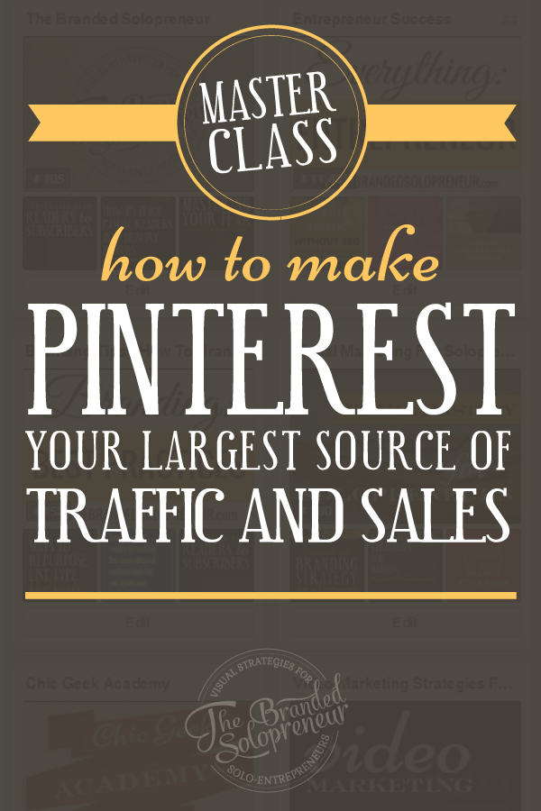 Want more Pinterest traffic and sales? In this masterclass I'm going to teach you exactly how to regularly drive 1000's of Pinterest leads to your website AND how to convert these new leads into customers almost entirely on autopilot. Plus, I'm going to teach you how to create kickass images that people can't help but click on {on and off of Pinterest}.