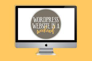 WordPress in a Weekend Workshop