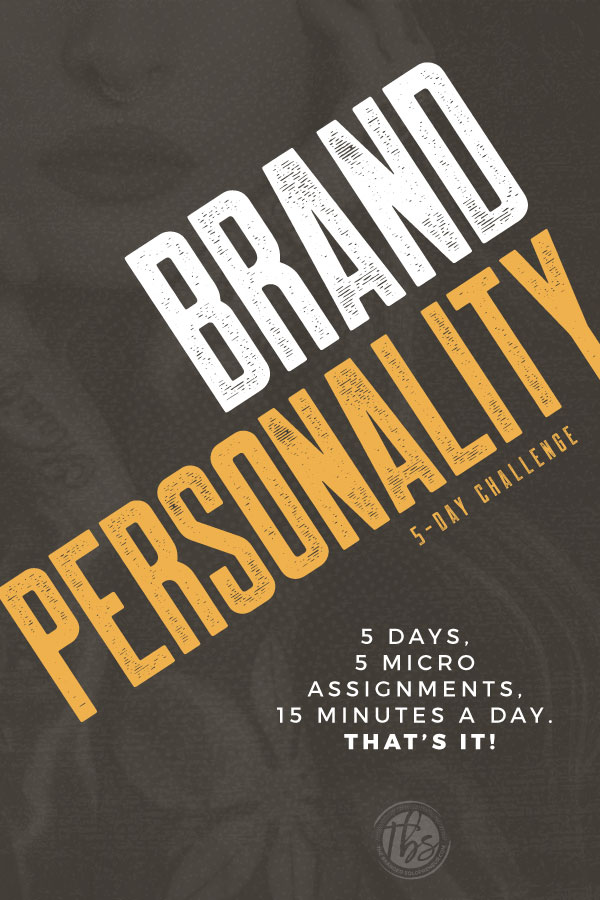 The Brandishing You 5-Day Challenge | Give me 15 minutes a day for 5 days, and I'll give you brand personality! Uncovering your brand personality will help you create an iconic brand that really stands for something. If you're into that, it's time to learn how to brandish your personality! branding yourself entrepreneur | #brandingdesign #branding101 #brandingstrategy #brandstrategy #brandidentity #brandidentitydesign #brandinginspiration #brandingtips #brandyourself